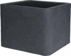 Antraciet-grijze Nampook Bloempot Natural Cube 50 Cm Antraciet