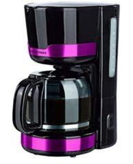 Gourmetmaxx Design-Kaffeemaschine, schwarz/brombeer GOURMETmaxx schwarz/brombeer