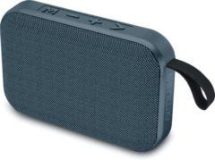 Blauwe Muse Electronics Muse M-308 BT Compacte portable bluetooth speaker met stoffen bekleding