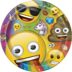 UNIQUE - 8 kartonnen Emoji Rainbow borden - Decoratie > Borden