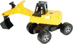 Lena graafmachine Giga Trucks junior 70 cm zwart/geel