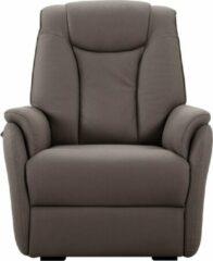 Bruine Lnl-medicare Senioren Sta-op elektrische relaxstoel - Benidorm - Stof - 2 motoren - 4 kleuren