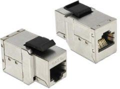 DeLOCK Netzwerk-Zubehör Keystone Modul RJ45 Buchse > RJ45 Buchse Cat.6A