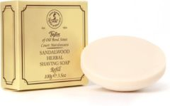 Taylor of Old Bond Street Sandalwood Scheerzeep Navulling 100g