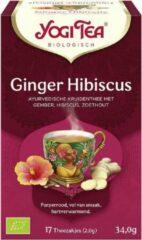 Yogi Tea Ginger Hibiscus Voordeelverpakking - 6 pakjes van 17 theezakjes