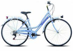 28 Zoll Legnano Versilia Damen Trekking Fahrrad 6-Gang Legnano hellblau-blau