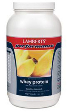 Afbeelding van Lamberts Whey Protein Banana - 1000 gram - Eiwitshake