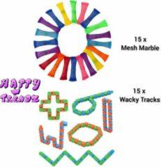 Merkloos / Sans marque Happy Trendz Mesh and marble - Wacky Tracks   30 Stuks  Uitdeelpakket / Fidget toy   Cadeau   Goedkoop   Anti-Stress   Fidgets toys pakket