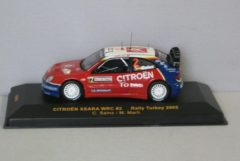 Rode Citroen Xsara WRC #2 Rally Turkey 2005 1:43 IXO Models Rood / Wit / Blauw RAM197