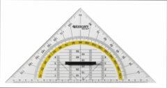 Transparante Geodriehoek Westcott 22cm met greep op kaart AC-E10134