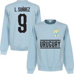 Lichtblauwe Retake Uruguay Suarez 9 Team Sweater - Licht Blauw - XL