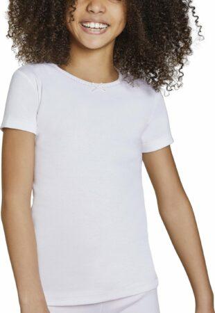 Afbeelding van Ysabel Mora T-shirt kind strikje korte mouwen wit   6