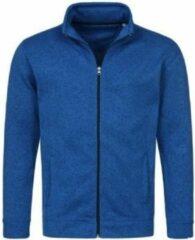 Stedman Fleece vest premium blauw voor heren - Outdoorkleding wandelen/camping - Vesten/jacks herenkleding S (36/48)