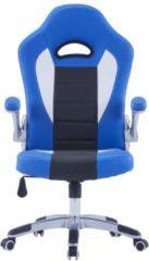 VidaXL Gamingstoel kunstleer blauw