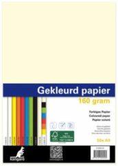 Papier Kangaro A4 160gr pak a 50 vel (10x5) assorti K-0039-415