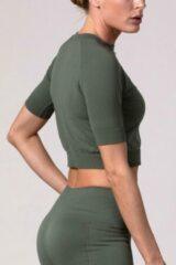 Groene REVIVE Sportswear REVIVE seamless Cropped Shirt AMARANTE - lichtgewicht - duurzaam