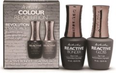 Transparante Artistic Nail Design Reactive Bonder & Gloss starterkit