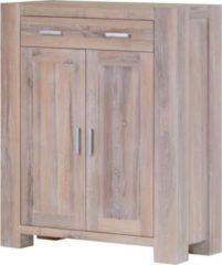 Möbel Ideal Vertiko Braxton in Eiche massiv weiß gekälkt