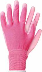 Talen Tools Werkhandschoenen licht polyester roze maat L