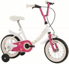 Rosa 12 Zoll Kinder Fahrrad Orbita Moon Star Orbita weiß-pink