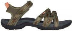 Donkergroene Teva tirra sandalen groen dames