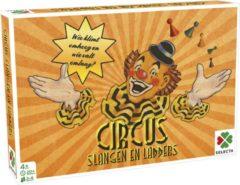 Bruine Selecta gezelschapsspel Spellen van toen: Circus/Slangen & Ladders