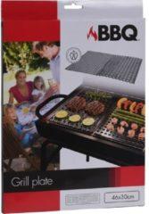 Roestvrijstalen BBQ Barbecue RVS grillplaten - 2 stuks
