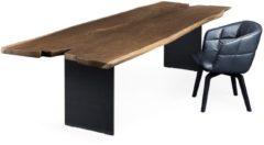 Janua SK 08 Butterfly Tisch - Eiche gelaugt (Ton weiß) - Gestell Rostbraun pulverbeschichtet - 220x100
