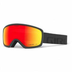 Grijze Giro GG Ringo Skibril - Grey Wordmark - Vivid Ember