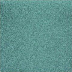 Rayher hobby materialen 8x stuks turquoise blauw glitter papier vellen 30.5 x 30.5 cmm - Hobby scrapbooking artikelen