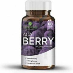 Green Life Acai Bessen - 60 capsules - Rijk aan Antioxidanten, Vitaminen & Mineralen - Al jaren in de top 10 van populaire Superfoods