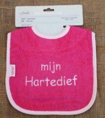 """Onze Miep Roze slab met """"Mijn hartendief"""""""