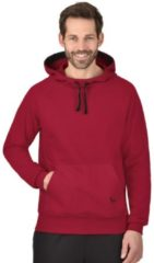 Herren Kapuzensweatshirt aus Biobaumwolle Trigema rubin-C2C