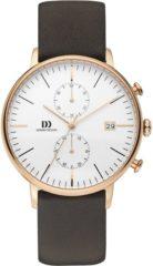 Danish Design IQ17Q975 horloge heren - bruin - edelstaal PVD ros�