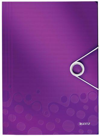 Afbeelding van Map met elastiek en 3 flappen Wow Leitz 23,5 x 32 cm rug 2,5 cm violet