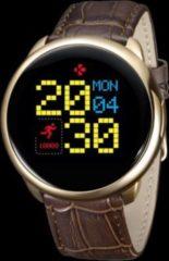 MYKRONOZ ZeRound Premium Smartwatch Leder gold