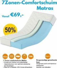 Witte Karex® Komfort Serie 7 Ligzones Comfort schuim Matras 140x200 17cm H3 H4 Schuimmatras