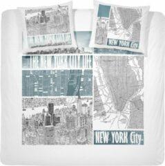Groene Beddengoed Hoogwaardige Percaline Katoen Lits-jumeaux Dekbedovertrek New York City | 240x200/220 | Zacht En Soepel | Topkwaliteit