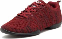 Rode Danssneakers Laag Anna Kern Suny 4035-bold - Heren Sport Sneakers - Salsa, Balfolk, Stijldansen - Maat 40,5