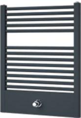 Douche Concurrent Designradiator Plieger Lucca 77.5x60cm 415 Watt Donker Grijs Structuur Middenonderaansluiting