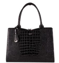 Zwarte Socha Businessbag Croco 14-15.6 Crocodile Jet Black