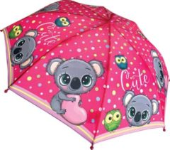Tom Kinderparaplu Koala Meisjes 38 Cm Polyester Roze