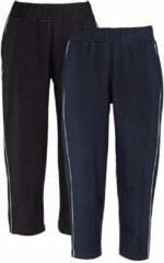 Marineblauwe Joggingbroek Harmony zwart/marine