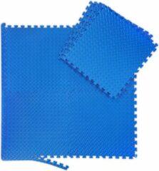Blauwe Relaxdays 8x fitness mat - beschermmat - sportmat - puzzelmat - vloermat - bescherming