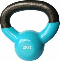 Kettlebells 2 kg gietijzer - Lichtblauw | 1 stuk | Mambo Max | Gietijzer
