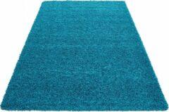 Himalaya Basic Shaggy vloerkleed Turquoise Hoogpolig - 60x110 CM