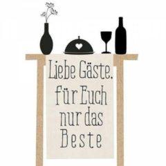Avant garde Servetten - Liebe Gäste - 40 stuks - 33 X 33 Cm