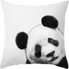 Dierenkussens Dieren kussenhoes panda - Pandabeer - Black and White - Sierkussen - 45x45 cm