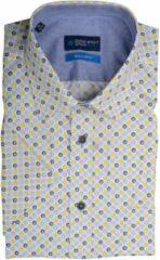 Gele Bos Bright Blue 20107WO34BO Casual overhemd met korte mouwen - Maat XL - Heren