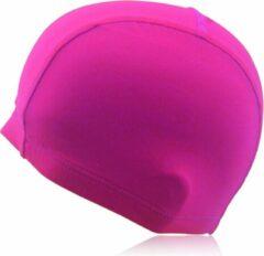 Roze #DoYourSwimming - Badmuts voor volwassenen - »Guppy« - kwaliteitsstof - perfecte pasvorm en extra oorbescherming - pink